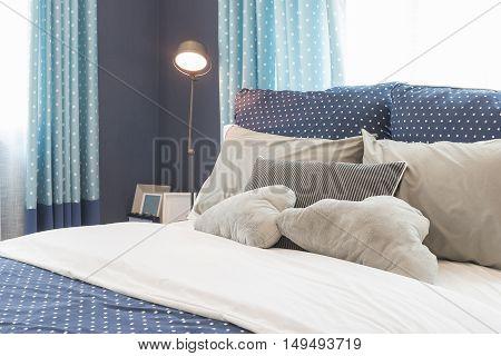 Modern Blue Color Tone Bedroom Interior Design