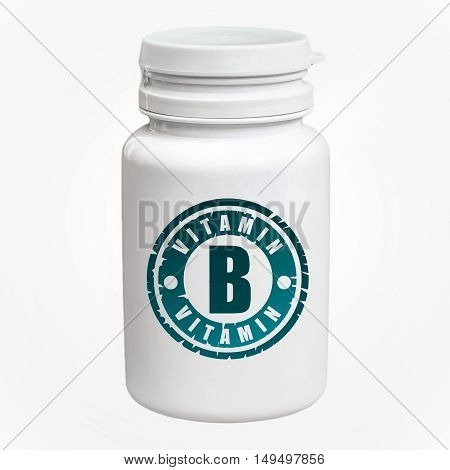 Bottle Of Pills With Vitamin B