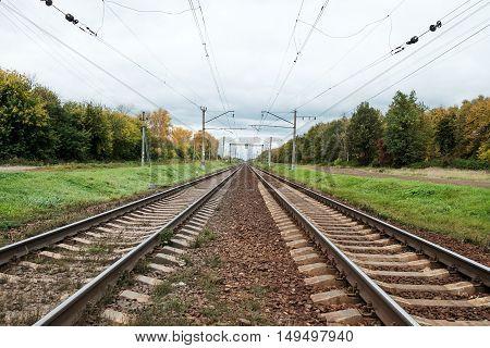 Two Pair Of Railway Tracks