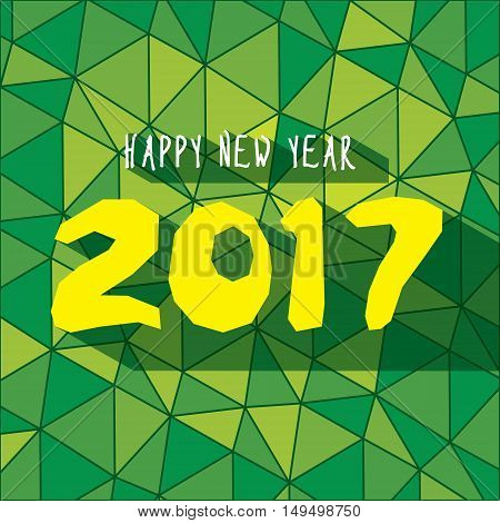 Vector Illustration of Creative New Year Greeting for 2017