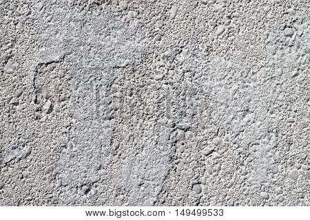 Detailed rough white painted concrete texture background