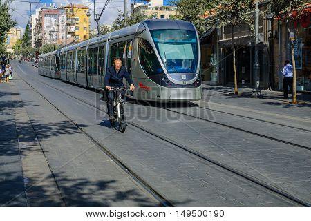 Scene Of Yafo Street, Jerusalem