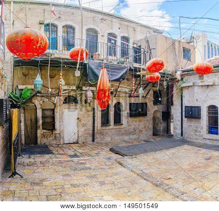 Inner Yard In The Historic Nachalat Shiva District, Jerusalem