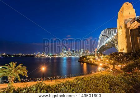 Sydney Harbour Bridge and Sydney Opera House NSW Australia. Sep 30,2016 the Sydney Opera House is one of the modern building, well known worldwide.