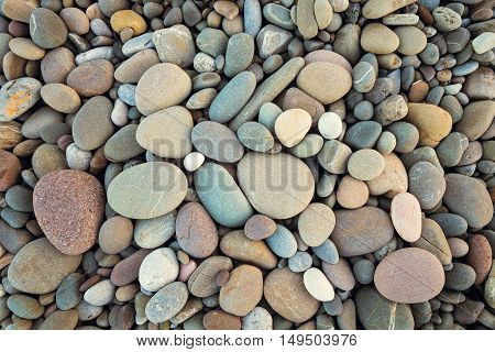 abstract background with round pebble stones in vintage style
