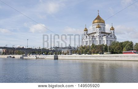Moscow Russia -September 06 2016: Christ Temple Saviour