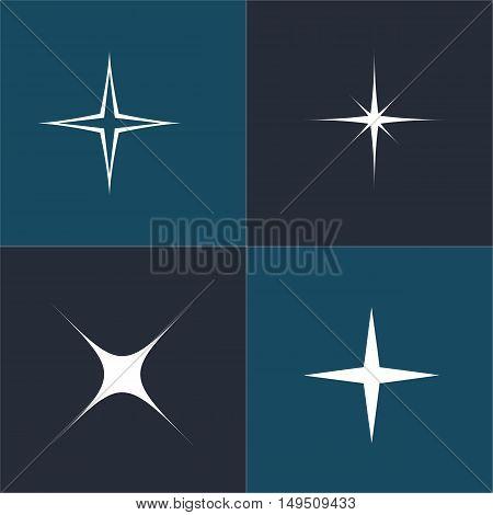 Symbols sparkling stars