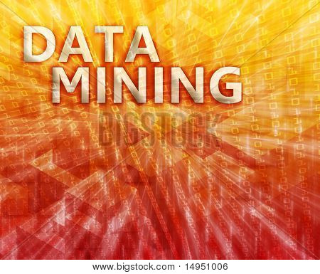 Data mining abstract, computer technology concept illustration