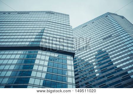 Moscow, Russia - September 13, 2016: Modern glass skyscraper buildings in the Business center.