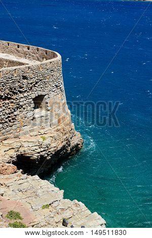 The fortress on Spinalonga Island Crete Greece