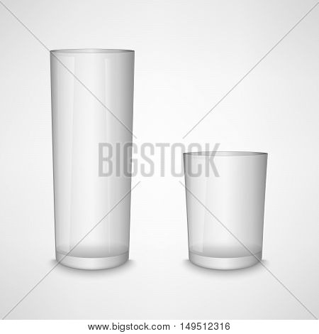 Blank white clear glass template vector eps 10