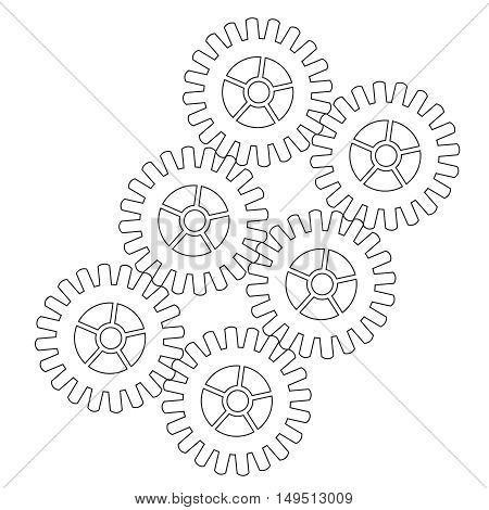 cogwheel vector icon 10 EPS,symbol, team, teamwork, technology, teeth, tool, toothed,