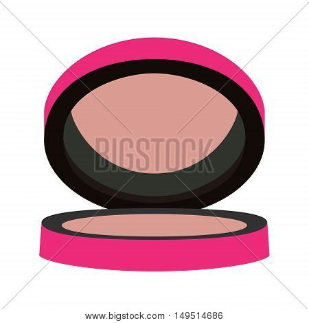 compact blush pink rose vector isolated illustration