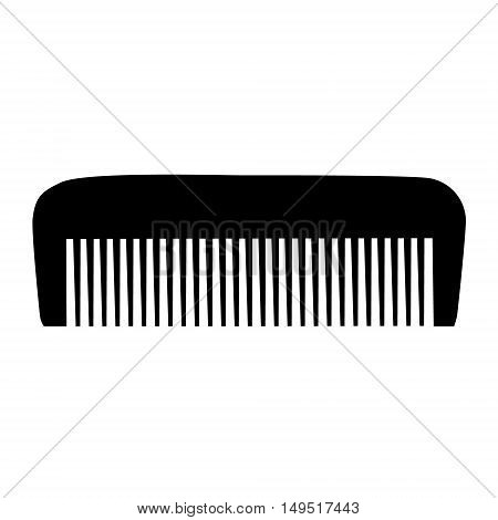 Comb , Barber Comb, Black Plastic Comb Vector Illustration