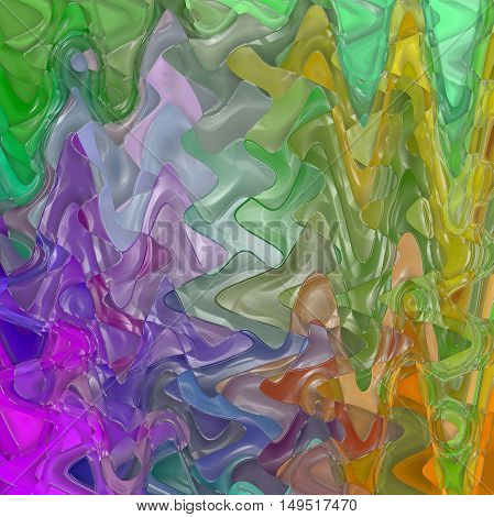 Abstract coloring background of the pastels background with visual wave,mosaic,spherize and plastic wrap effects.Good for your project design