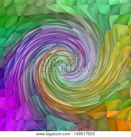 Abstract coloring background of the pastels background with visual wave,twirl,mosaic and plastic wrap effects.Good for your project design