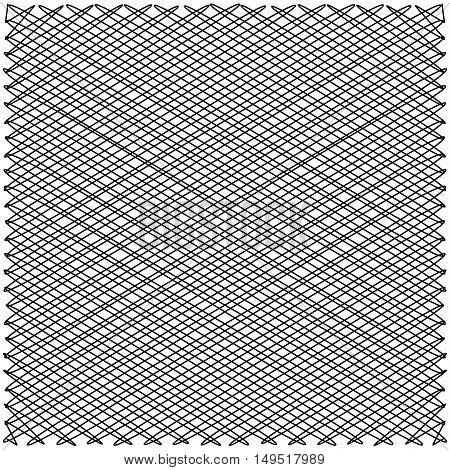 intersecting zigzag lines on the diagonal, the structure of the fabric yarns interwoven to form geometrical shapes vector illustration for print or website design background