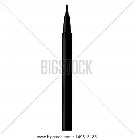 eyeliner pen make-up isolated black vector illustration