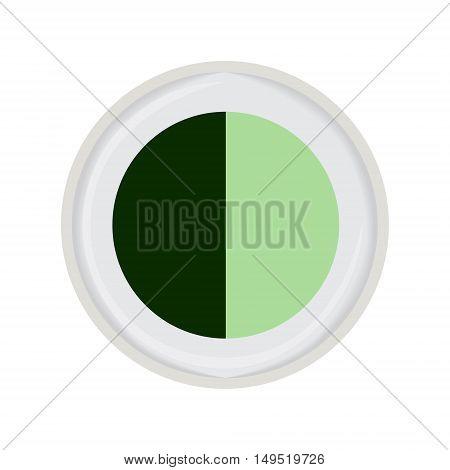 eye shadow duo green isolated vector illustration