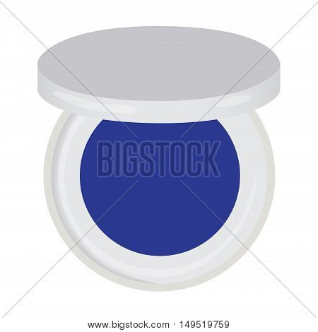 eye shadow blue compact isolated vector illustration