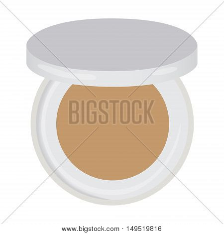eye shadow brown compact isolated vector illustration