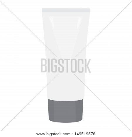 face cream tube white isolated vector illustration