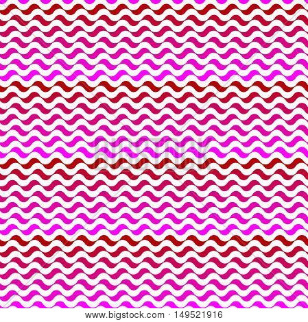 Seamless vector pattern. Mixed pink waves texture