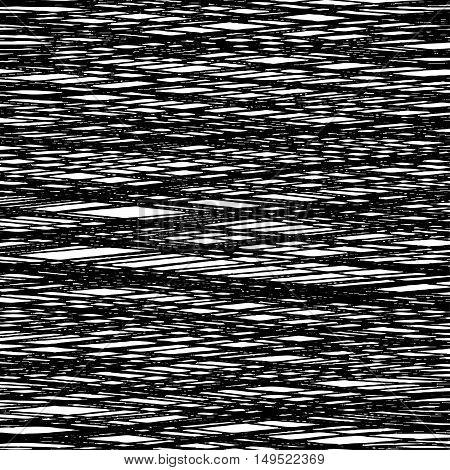 Black background of interwoven lines. Fibrous black texture.