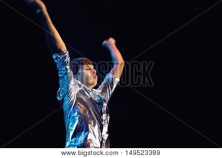 Klaxons Performing Live at Festival MEO Marés Vivas 20.07.2013 Porto - Portugal