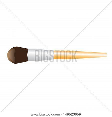 make-up brush powder visage isolated vector illustration