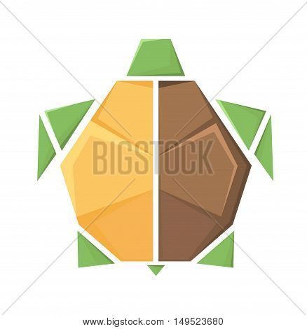 Stylized vector image of a turtle .