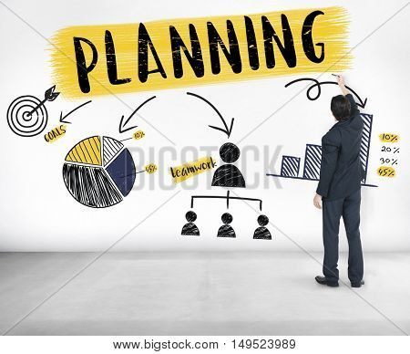 Planning Strategy Branding Chart Graphic Concept