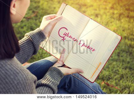Reading Garden Lifestyle Modern Concept
