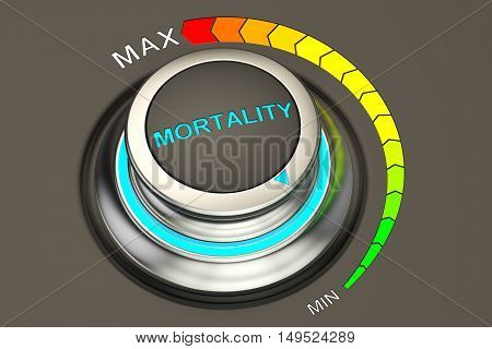 min level of mortality concept 3D rendering