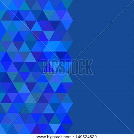 Abstract geometrical cool background with triangles and space for message