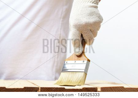 men with brush
