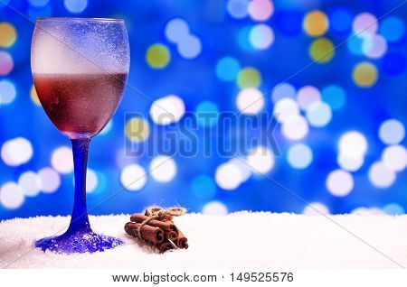 Glass Of Hot Wine With Seasonings