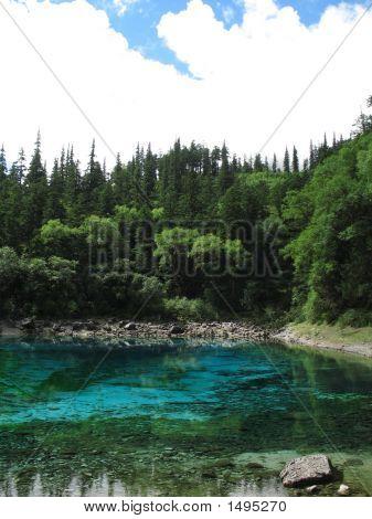 clear blue lake