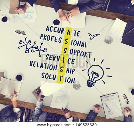 Business Plan Strategy Cross Words Graphic Concept