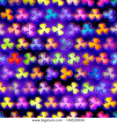 Seamless texture of abstract bright shiny colorful flowers.