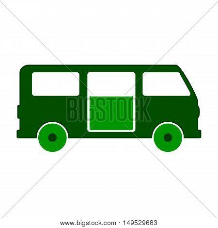 Minibus symbol icon on white background. Vector illustration.