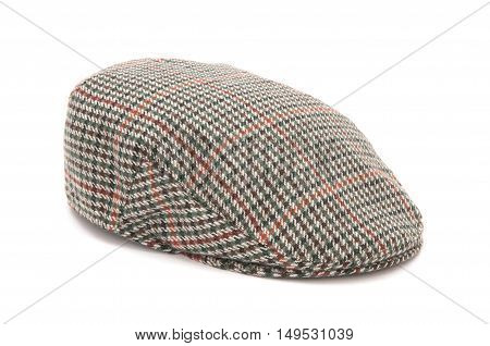Houndstooth Tweed Hunting Flat Cap