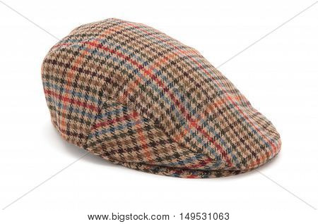 Houndstooth Tweed Hunting Hat