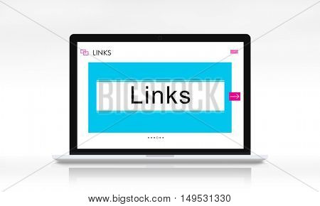 HTTP WWW Website Links Search Box Graphic Concept