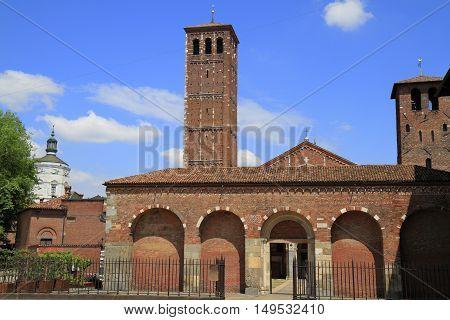 Basilica Of Saint Ambrose (sant'ambrogio) In Milan