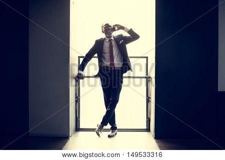 Businessman Enterprize Urban Occupation Man Concept