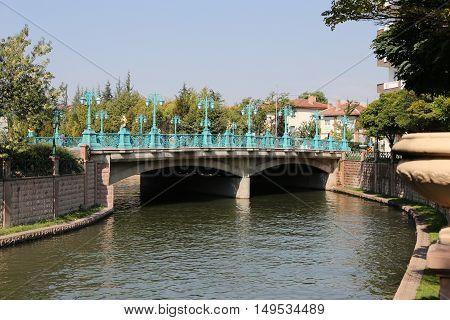 Porsuk River passing through Eskisehir City Turkey