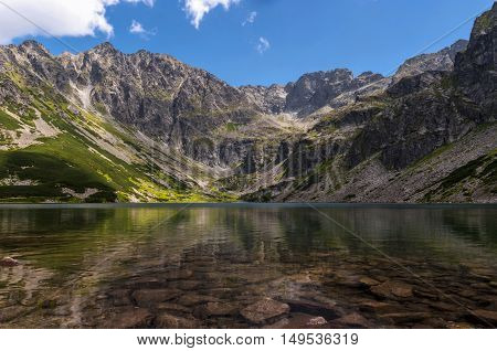 Amazing, clear mountain lake, High Tatras, Poland
