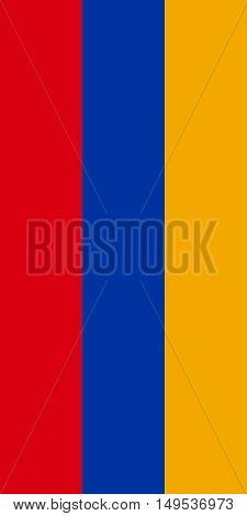 Flag Of Armenia Vertical