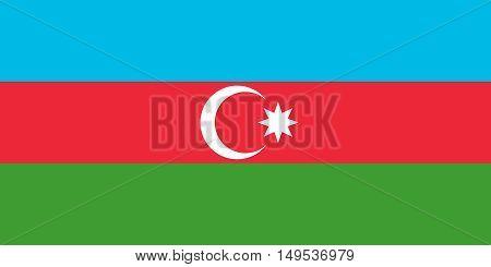 Flag Of Azerbaijan Horizontal